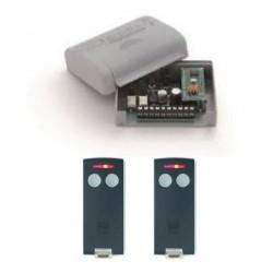 Kit ricevente cardin RQM504C2 2 canali 12v 24v e telecomandi TXQ504C2: