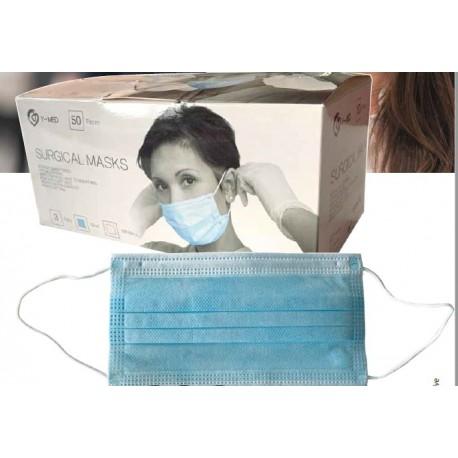 5 pezzi Mascherina chirurgica facciale 3 veli ipoallergenica