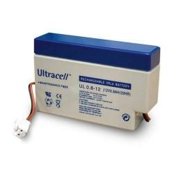 UL0.8-12 Ultracell batteria al piombo ricaricabile 12V 0.8Ah con connettore
