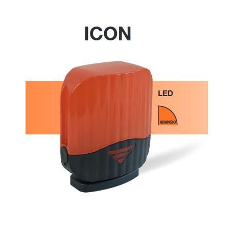 ICON Cardin telcoma lampeggiante cancello a LED alim. 24Vac/dc o 230Vac arancione e antenna integrata